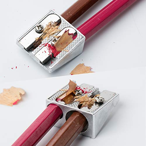 Mr. Pen Handheld Metal Pencil Sharpener with 2 Holes, Pack of 6 Photo #8