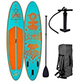 BRAST Stand up Paddle Gonflable Adulte Rigide Summer Turquoise 10'6...