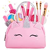 Sprinkles Toyz Kids Real Makeup Kit for Little Girls: with Pink Unicorn Make up Bag - Real, Non Toxic, Washable Make Up Toys - Gifts for Toddler Girl Young Children, Kid Princess Pretend Play Set