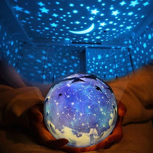 Luz de noche LED luz nocturna estrellas cielo mágico estrellas luna planeta lámpara Cosmos Luminaria luz de guardería luz para cumpleaños niños regalo