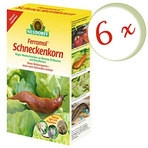 Oleanderhof® Sparset: 6 x NEUDORFF Ferramol® Schneckenkorn, 2 kg + gratis Oleanderhof Flyer