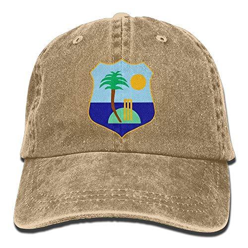 BQJ Apparel West Indies Cricket Board Cotton Adjustable Cowboy Hat Leisure Hats for Adult