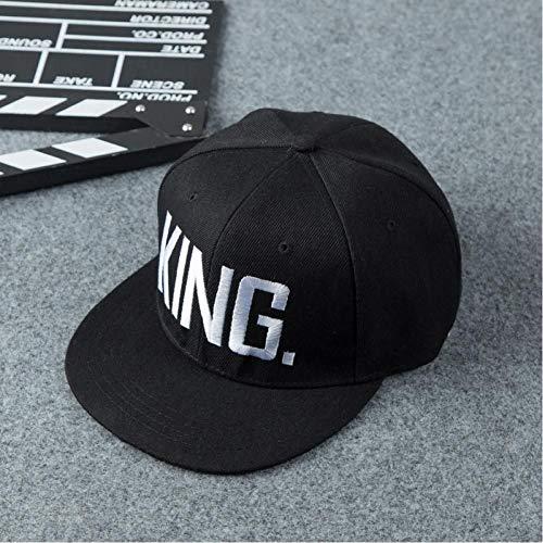 FBXYL King Queen baseballpet snapback mannen vrouwen pet papa botten wit zwart paar hip hop sport