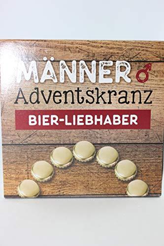 Gilde - 46698 - Adventskranz für Männer, Bier Liebhaber, 4 Untersetzer und 4 Teelichter, 9,5cm x 9,5cm x 3,5cm
