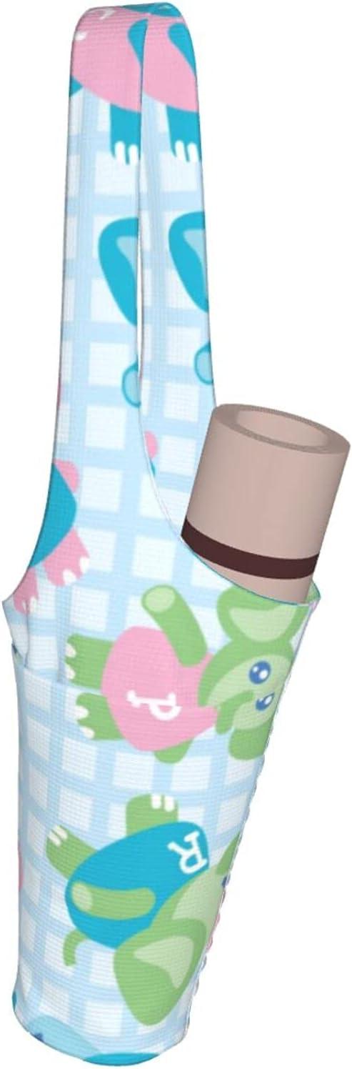 Jeezhub Sale item Colorful Elephants Yoga Mat Large with Pockets Tulsa Mall Bag Fash