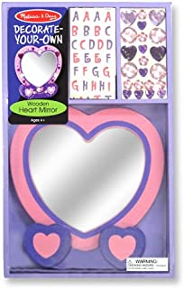 Melissa & Doug Decorate-Your-Own Wooden Heart Mirror Craft Kit