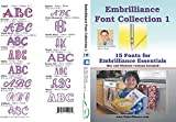 Embrilliance Font Collection 1 Embroidery Software for Mac & PC