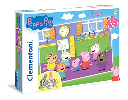 Clementoni Peppa Pig Floor Puzzle, 40 Pezzi, 25458