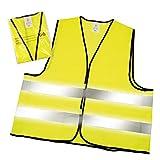 Juego de chalecos reflectores según la norma EN ISO 20471, chaleco reflectante de color amarillo neón, talla única XXL con rayas reflectantes