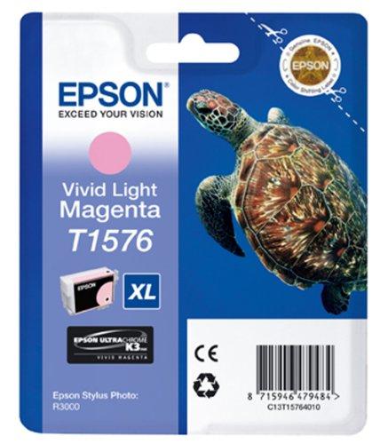 Epson T1576 Tintenpatrone Schildkröte, Singlepack vivid hell magenta