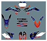 Hjunisshkm Protector de gráficos de Motocicletas Fondos de calcomanías Pegatinas Kits para KTM SX85 2013-2017 HFDYJ (Color : 9)