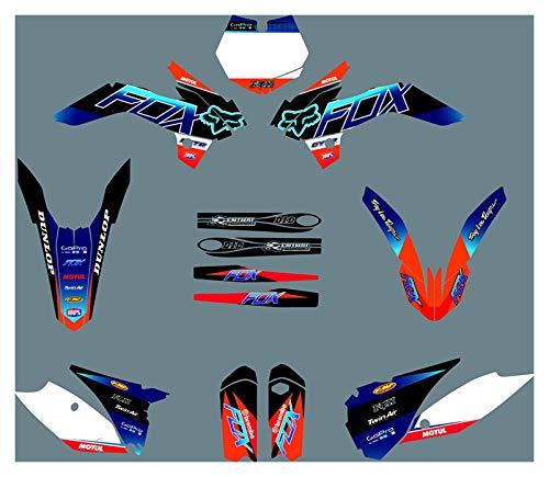 Yhfhaoop DST1107 Etiquetas de calcomanías de Motocicleta 3M Personalizadas Pegatinas Gráficos Kit de decancia gráfica para KTM SX85 2013-2017