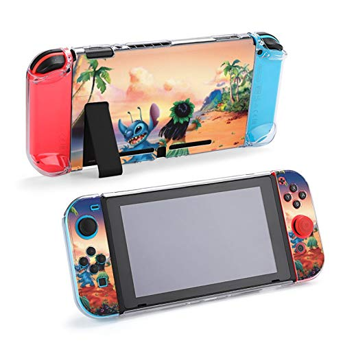 Stit-Ch Case Compatible with Nintendo Switch, Shock-Absorption Anti-Scratch Protection Case, Crystal Clear Case for Nintendo Switch