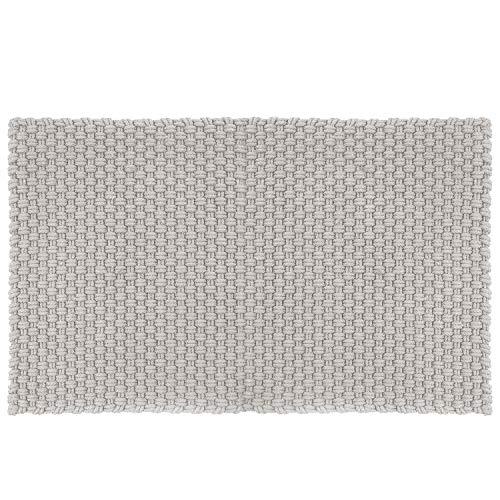 pad - Fußmatte - Fußabtreter - Uni - in/Outdoor - grau - 52 x 72 cm