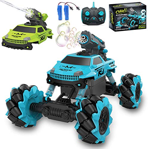 Remote Control Car for Kids 1:14 Scale 2.4GHz RC Cars 4WD All Terrain Off Road Monster Truck 3 Modes Transformation Radio Crawler, Water Cannon, Bubble Machine, for 4-12 Year Old Boys & Girls
