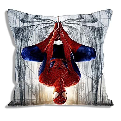 Throw Pillow Cases The Amazing Spider Man Movie Funda de Almohada Decoración de Almohada Protectores de Almohada Cuadrados para sofá Dormitorio Silla de Coche Decoración para el hogar 45x45cm