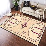 CXJC Hogar Skid prueba duradera alfombra personalizada, NBA Logotipo del equipo de establecer un patrón de la estera del piso, cohetes, Timberwolves, Calor Inicio Gráficos de alfombras, 3D de alta tem