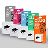Hornit CLUG Bike Clip Indoor Outdoor Hybrid Bicycle Storage System, White/Black