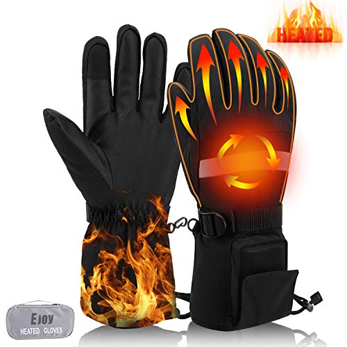 EJOY Heated Gloves for Men Women, Electrical Ski Motorcycle Hiking Cycling Gloves, 7.4V 3300mAh Rechargeable Battery Hand Warmers, Thanksgiving Gifts