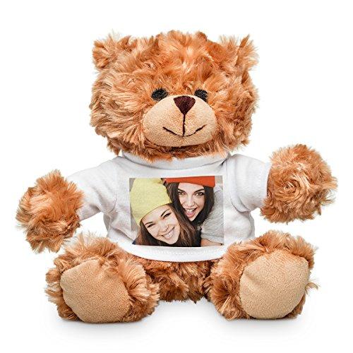 Plüschtier mit personalisiertem Foto - weicher Teddybär mit T-Shirt für EIN individuelles Bild - 20 cm