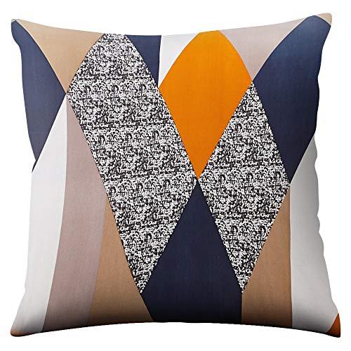SearchI Confezione da 4 federe per Cuscino in Cotone e Lino, quadrate, per divani, Letti, sedie 45 x 45 cm