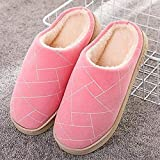 B/H Andar por casa,Zapatillas de algodón Antideslizantes de Suela Gruesa, Calzado de Abrigo Interior-Pink_37-38,Jardín Sandalias