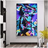 Cuadros Decoracion Salon ZXYFBH Carteles Coloridos Abstractos Modernos Impresiones murales y de Mujeres Desnudas Retrato Pintura al óleo Sala de Cuadros Decoración del hogar 15.7x23.6in (40x60cm) x1p