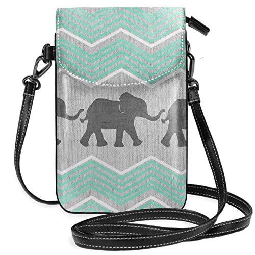 Kleine Handtasche mit drei Elefanten, leicht, für Damen und Mädchen, mit praktischem Tragen.