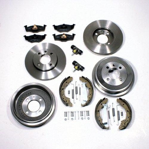 Bremsscheiben/Bremsen Set vorne + Bremstrommel + Zubehör hinten