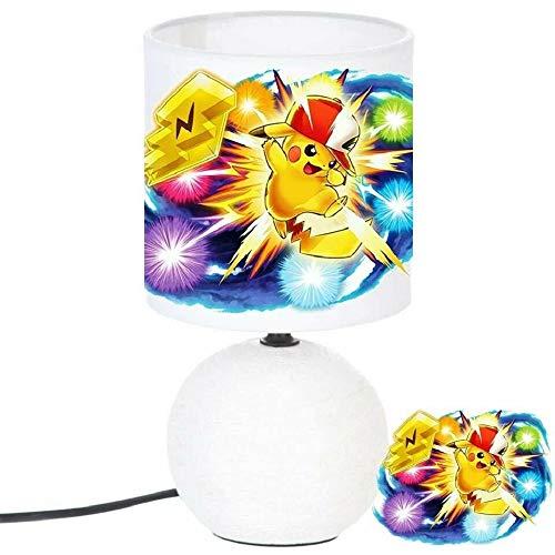 PRESENT Lampe de chevet PIKACHU POKEMON création artisanale N° 2 - Personnalisé avec le prénom de l'enfant