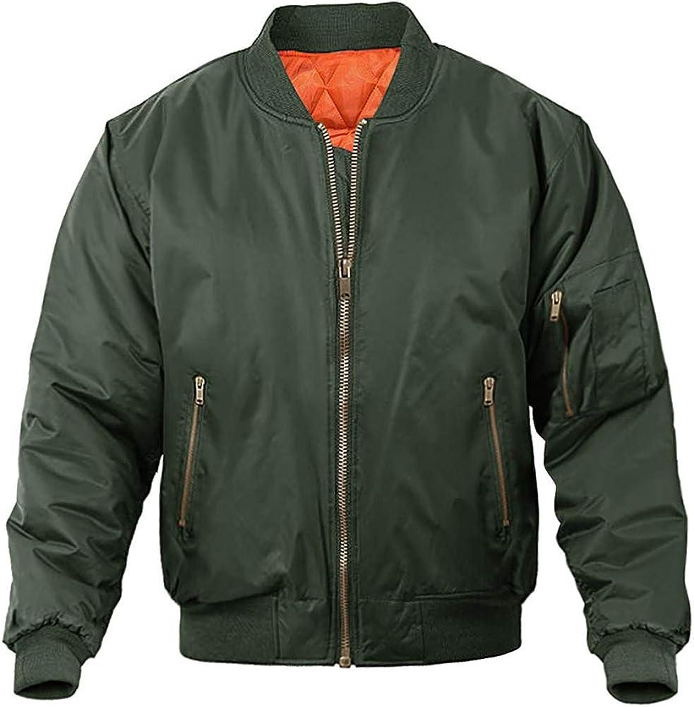 Kansas City Atlanta Mall Mall MAGNIVIT Men's Bomber Jacket Winter Fall Military Casual