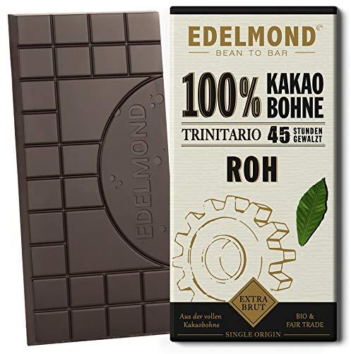 Langzeitgeführte Edelmond Schokolade Roh 100 %. Keine Kakaomasse. Ein Bitter-Kakaobohnen Geschenk