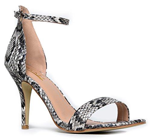 Glaze WomenÆs Ankle Strap High Heels | Dress Wedding Party Heeled Sandals | Elegant Formal Comfortable & Strappy Basic Pump Low Heel