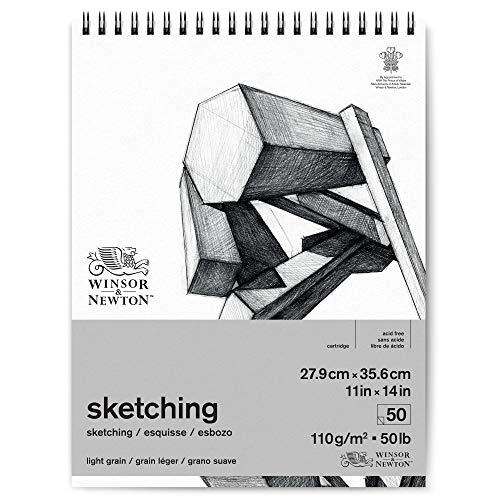 Winsor & Newton 6672007, Extra Weiß, 27,9 x 35,6cm-50 Blatt Skizzenpapier im...