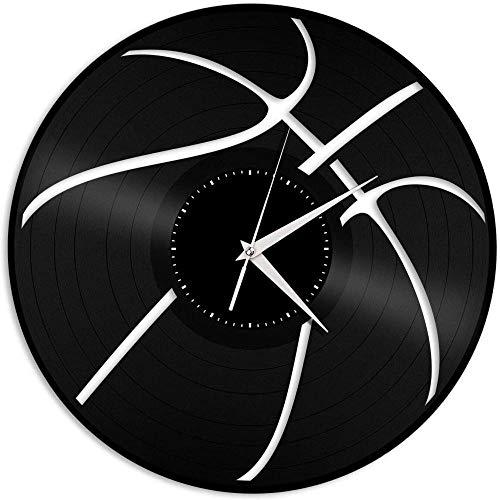 TJIAXU Reloj de Pared con Disco de Vinilo de Baloncesto, Regalo de diseño único para Amigos, decoración del hogar y la habitación