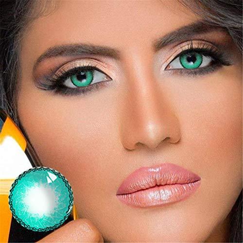 Pageantry Kontaktlinsen Farbige Kontaktlinsen Coloured for Eyes Ohne Stärke Deckende und Natürliche Silikon Kontaktlinsen Farbige Make up Accessoires für Frauen 1 Paar (2 Stück)