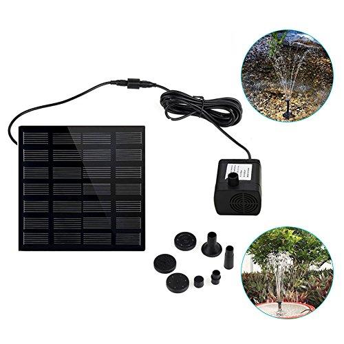 SayHia Fonteinpomp op zonne-energie, 1,4 watt, voor zwembad, koi, vijver, vogelbad, tuindecoratie, dompelwaterpomp, kit voor kleine vijver, zwembad, aquarium, tuin
