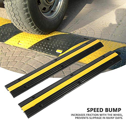 Snelheid Bump, Kabel Vloerbedekking Protector Trunking Rubber Bumper, 2 Pack