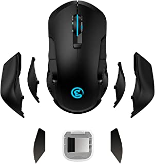 GameSir Wireless Gaming Mouse High Precision Mice, 16,000 DPI Adjustable, Programmable Buttons, RGB Backlit, Replaceable Side Plates, Ergonomic Grips