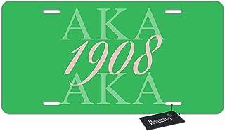 WONDERTIFY License Plate Aka 1908 Decorative Car Front License Plate,Vanity Tag,Metal Car Plate,Aluminum Novelty License Plate for Men/Women/Boy/Girls Car for Men/Women/Boy/Girls Car,6 X 12 Inch