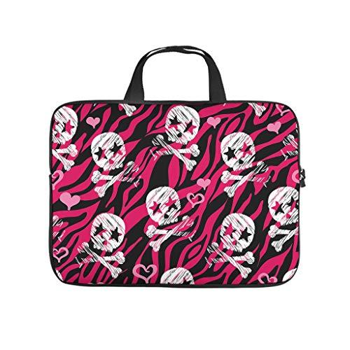 Pink Zebra Calavera Skull 3D Print Laptop Bag Protective Case Water Resistant Neoprene Laptop Bag Sleeve Cute Laptop Bag Computer Accessories
