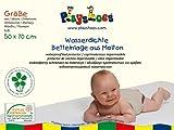 Playshoes 770211 Molton Betteinlage Kinderbett wasserdicht und atmungsaktiv, Oeko-Tex Standard 100, 50 x 70 cm