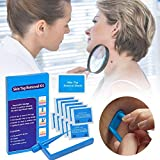 Kit de eliminación de etiquetas de piel, removedor de etiquetas de piel azul seguro para etiquetas de piel pequeñas a medianas Cuidado de la piel Micro Tag Skin Remover Set, 10 piezas de microbandas
