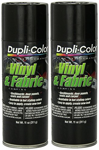 Dupli-Color HVP104 Gloss Black Vinyl & Fabric Coating 11 oz. Aerosol (2 Pack)