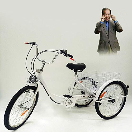 Minus One - Triciclo para adultos y adultos, con 3 ruedas, 24...