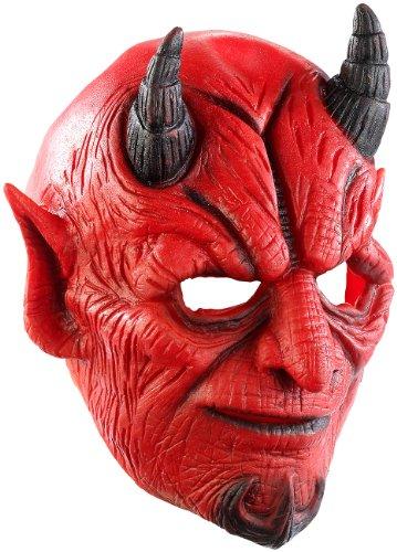 Masque de diable en latex avec bouche mobile [Infactory]