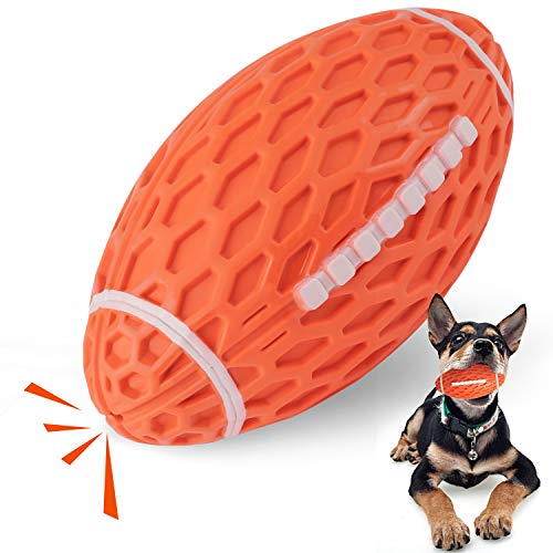 YOUMI犬用 音の出るおもちゃ 噛むおもちゃ ボール ラグビー 歯磨き デンタル玩具 丈夫耐久性 運動不足やストレス解消用品 知育玩具 歯磨き デンタル玩具 中型 大型犬