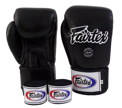 Fairtex Muay Thai Boxing Gloves BGV1 Solid Black Gloves & Handwraps Size : 10 12 14 16 oz Training & Sparring All Purpose Gloves for Kick Boxing MMA K1 Tight Fit Design (Solid Black, 16 oz)