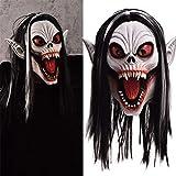 Yuciya Máscara de Halloween, Máscara de Vampiro Máscara de Cosplay de Halloween Máscara de Miedo con Peluca Disfraces de Disfraces de Cosplay