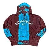 (レフラー) LEFLAH wide silhouette プルオーバーフーディー パーカー タイダイ pullover hoodie parka tiedye (L, ブルー)